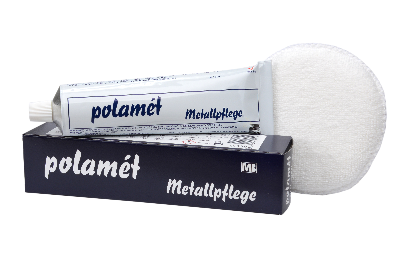 Polamèt Metallpflege, 150 ml Tube (ehem. POL-Blau) + 1 Polierpad