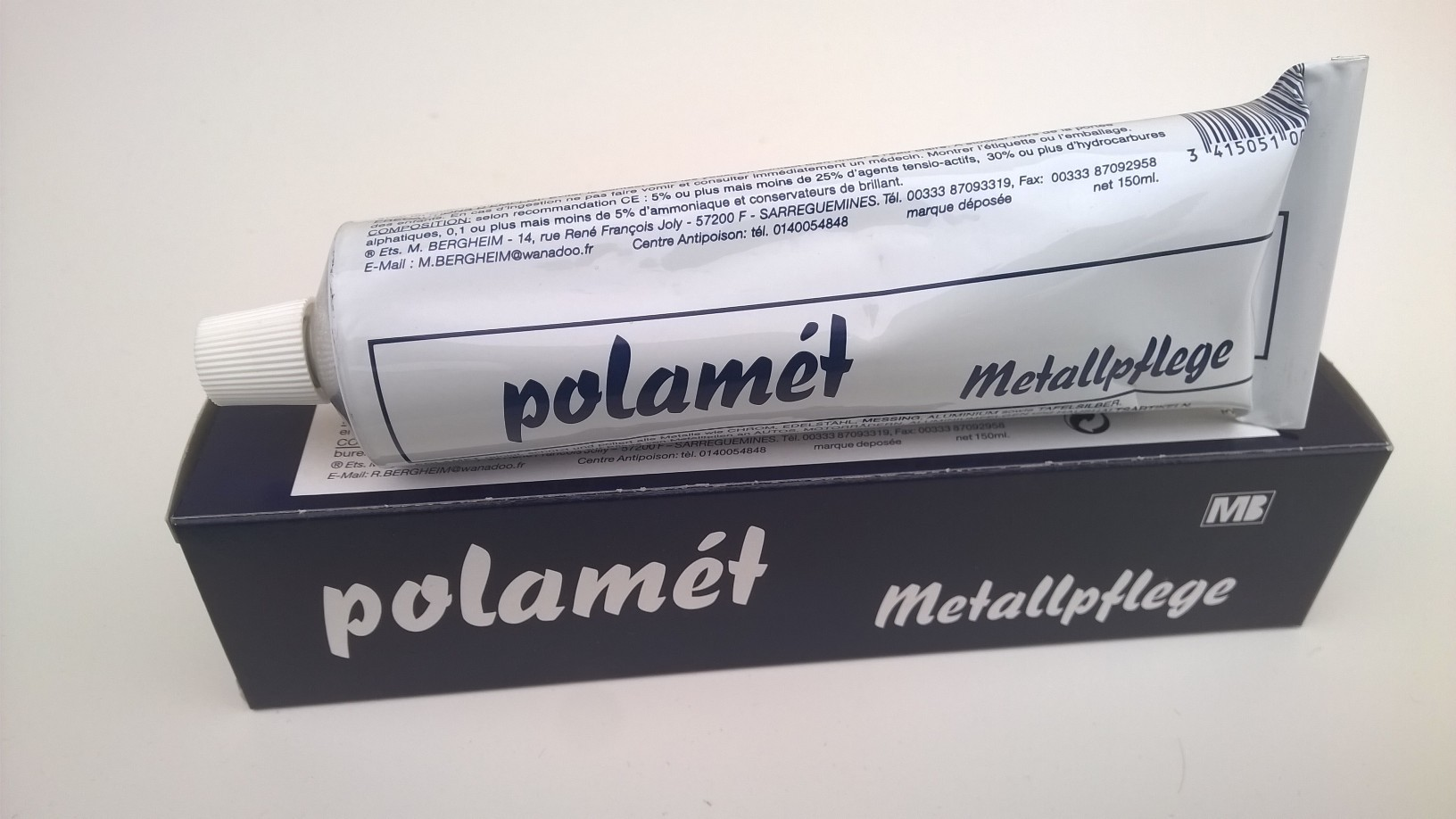 Polamèt Metallpflege, 150 ml Tube (ehem. POL-Blau)